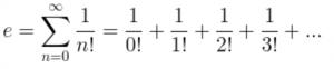 How e = 2.71828183 ?