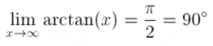Arctan of infinity