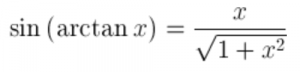 What is the sine of arctan(x)