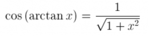 What is the cosine of arctan(x)