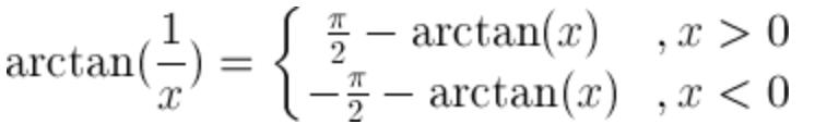 Arctangent function