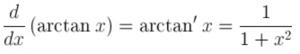 Derivative of arctan