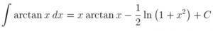 Integral of arctan