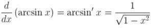 Derivative of arcsin(x)